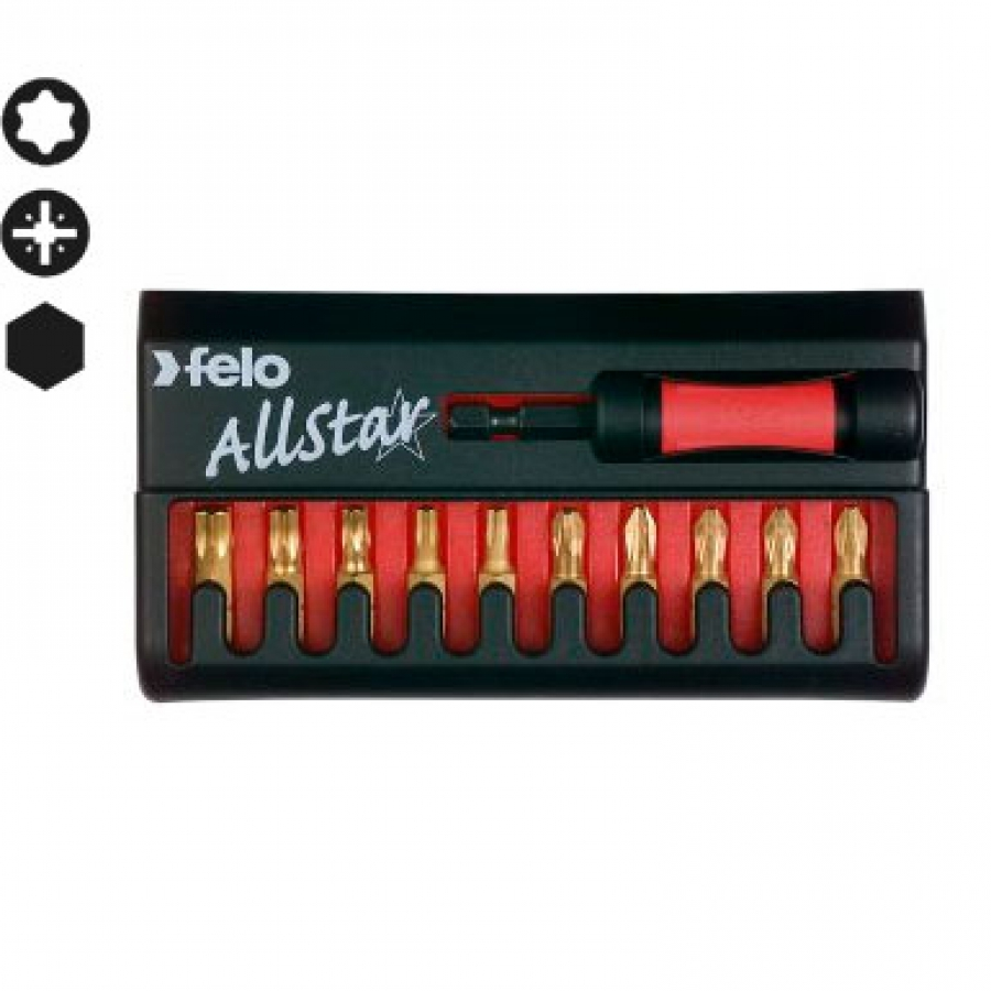 Felo 020 AllStar TiN Bit Box